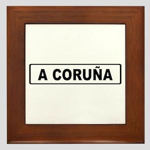 Roadmarker La Coruña - Spain Framed Tile