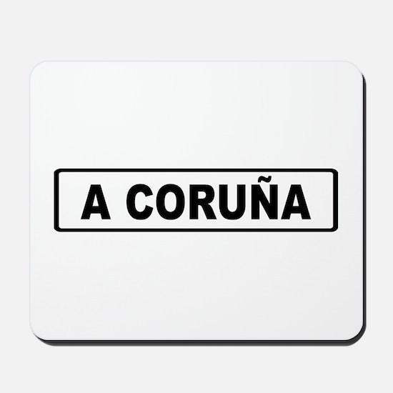 Roadmarker La Coruña - Spain Mousepad