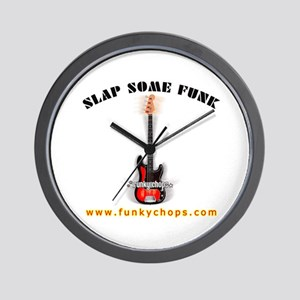 FUNKYCHOPS.COM Slap Bass Guitar Wall Clock