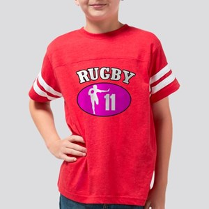 PinkWhite Youth Football Shirt