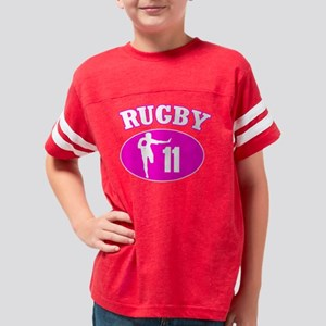 Rugby11PinkBL copy Youth Football Shirt