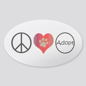 Peace Love Adopt Sticker