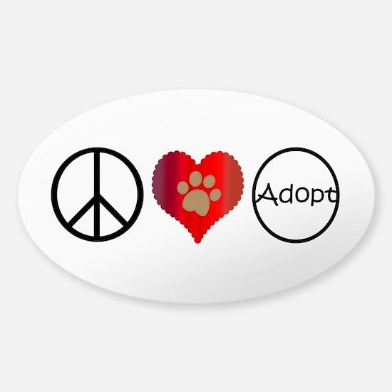 Peace Love Adopt Decal
