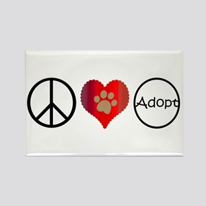 Peace Love Adopt Magnets