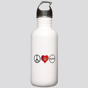Peace Love Adopt Water Bottle