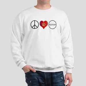 Peace Love Adopt Sweatshirt