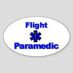 Flight Paramedic Oval Sticker