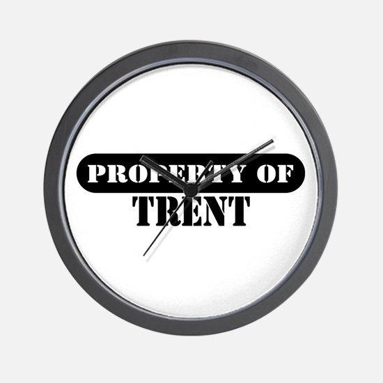Property of Trent Wall Clock