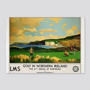 Northern Ireland, Golf, Vintage Poster 5'x7'Area R