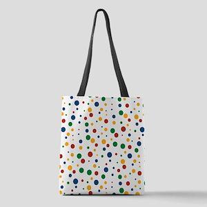Retro Clowny Dot Pattern Polyester Tote Bag