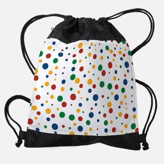 Retro Clowny Dot Pattern Drawstring Bag