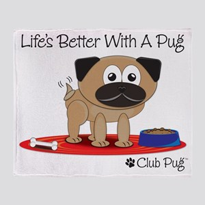 Fawn Pug Throw Blanket