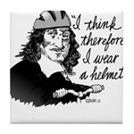 Descartes Bike Helmet Tile Coaster