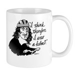 Descartes Bike Helmet Mugs