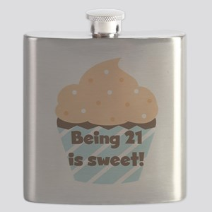 Being 21 is Sweet Birthday Flask