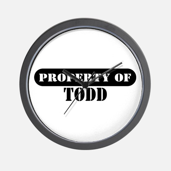 Property of Todd Wall Clock