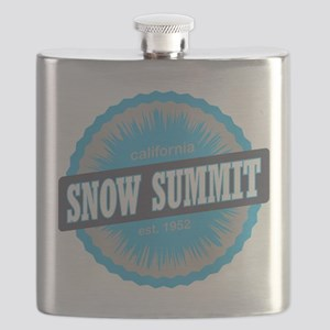 Snow Summit Ski Resort California Sky Blue Flask