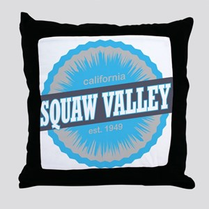 Squaw Valley Ski Resort California Sky Blue Throw