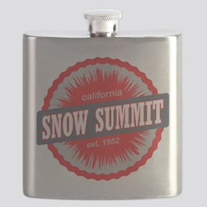 Snow Summit Ski Resort California Red Flask