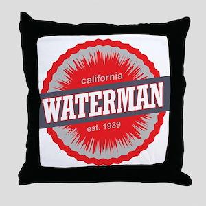 Mount Waterman Ski Resort California Red Throw Pil