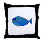 Bignose Unicornfish Throw Pillow