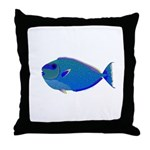 Bignose Unicornfish Throw Pillow