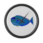 Bignose Unicornfish Large Wall Clock