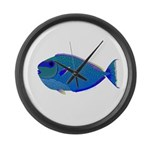 Bignose Unicornfish Large Wall Clock