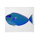 Bignose Unicornfish Throw Blanket