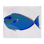 Bignose Unicornfish Throw Blanket