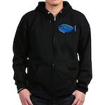 Bignose Unicornfish c Zip Hoodie