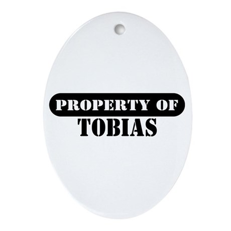 Property of Tobias Oval Ornament