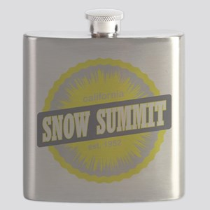 Snow Summit Ski Resort California Yellow Flask