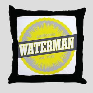 Mount Waterman Ski Resort California Yellow Throw