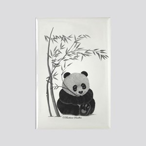 Little Panda Rectangle Magnet