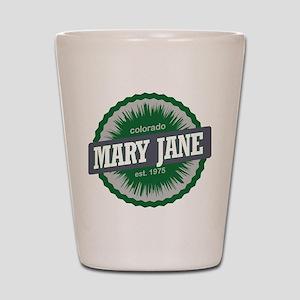 Mary Jane Ski Resort Colorado Green Shot Glass