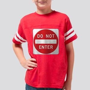 TH_Do_Not_Enter Youth Football Shirt