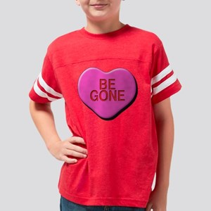Be Gone Centered Square Youth Football Shirt