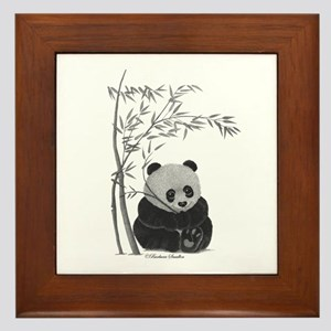 Little Panda Framed Tile