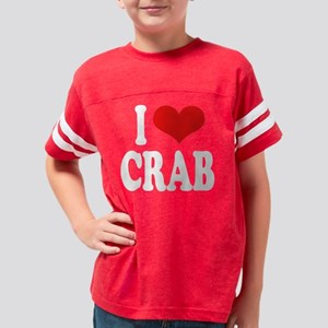 ilovecrabwht Youth Football Shirt