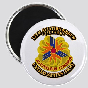 12th Aviation Group - 1 with text Magnet