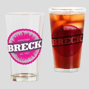 Breckenridge Ski Resort Colorado Pink Drinking Gla