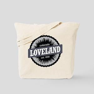 Loveland Ski Resort Colorado Black Tote Bag