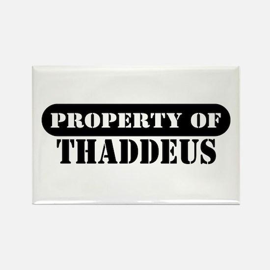 Property of Thaddeus Rectangle Magnet