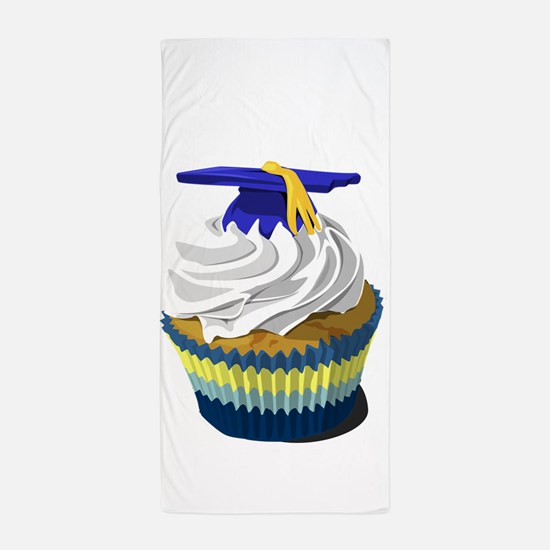 Graduation cupcake Beach Towel