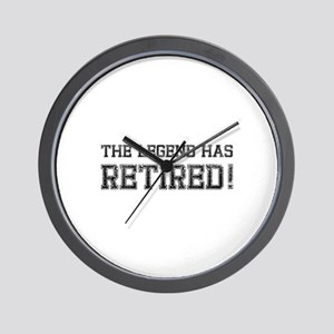 The legend has retired! Wall Clock