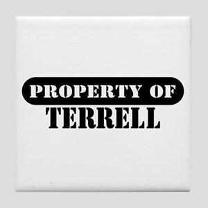 Property of Terrell Tile Coaster