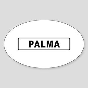 Roadmarker Palma de Mallorca - Spain Sticker (Oval