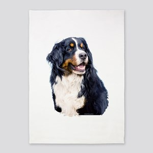 Bernese Mountain Dog 5'x7'Area Rug