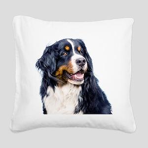 Bernese Mountain Dog Square Canvas Pillow